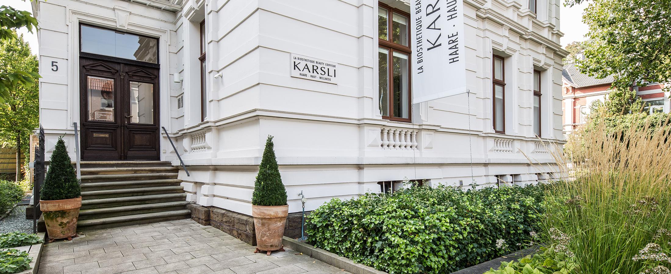 Aussenansicht des Beauty-Coiffeurs Karsli